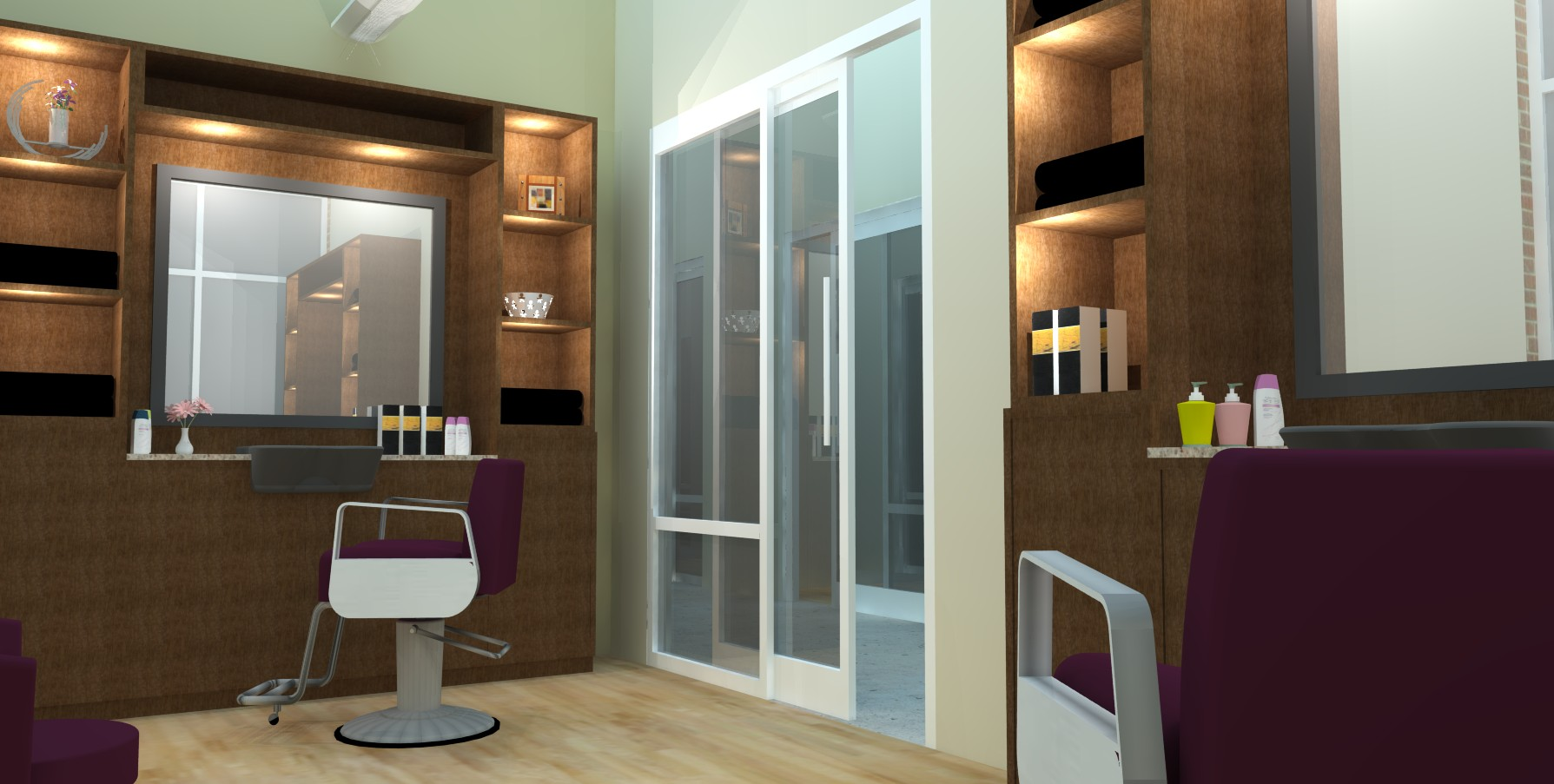 Modern Salon Concept Is Heightened With Great Interior Design Experience The Fusion