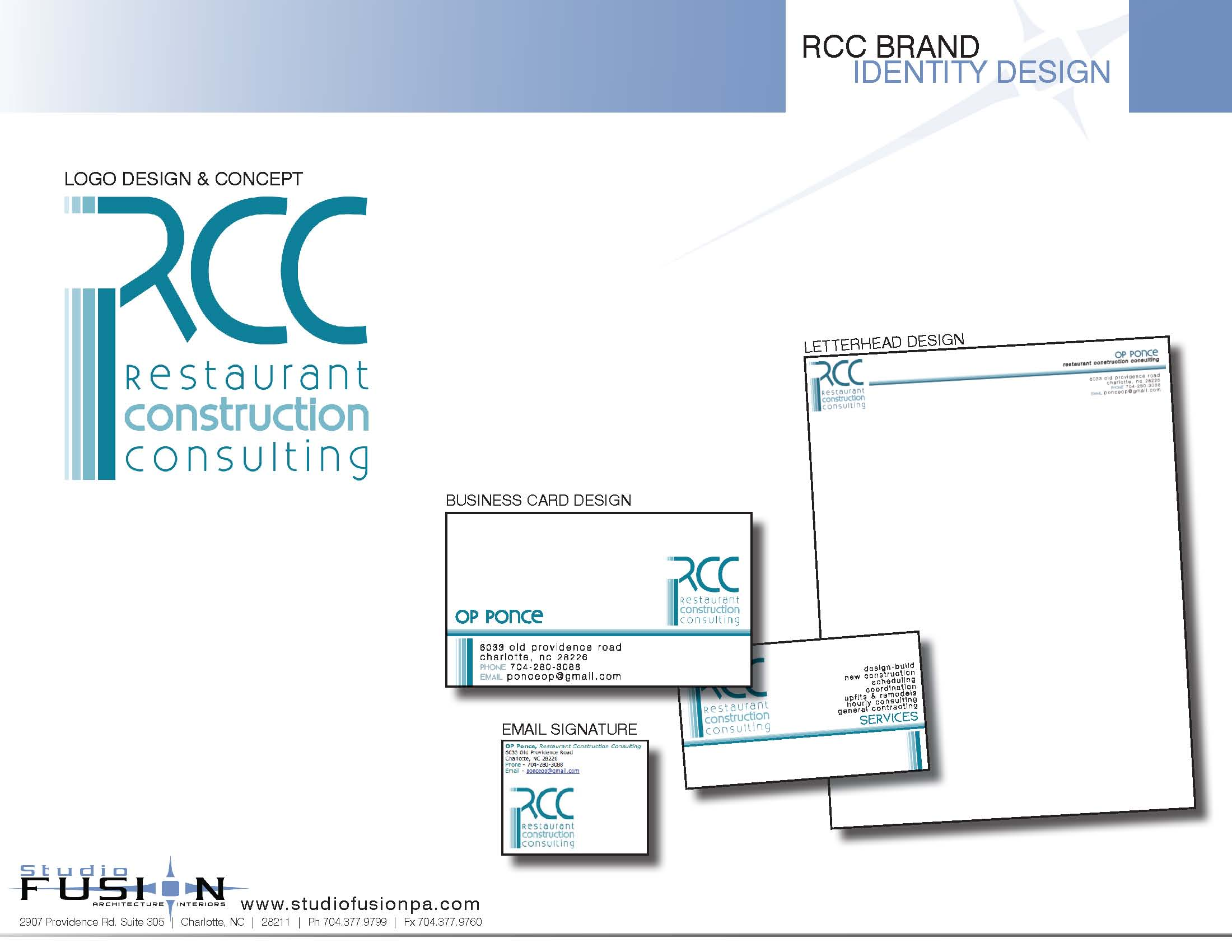 interior design firm helps new consulting firm with brand identity
